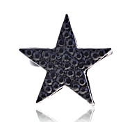 Lureme®Full of Crystals Black  Star Ring