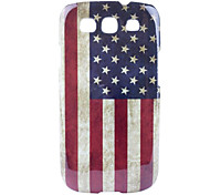 Retro Style US National Flag Pattern Hard Case for Samsung Galaxy S3 I9300