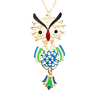 Z&X®  Empty Activities Cute Owl Long Necklace