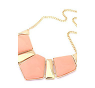 Pink Metal Geometry Necklace