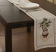 Green Linen Rectangular Table Runners