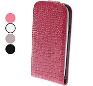 Flip-Open Design Noble Alligator Grain Leather Case for Samsung Galaxy S3 I9300 (Assorted Colors)