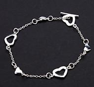 z&X® 925 banhado a prata t coração amar a nota máxima a nova pulseira