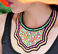 Hand-woven Meters Fluorescent Fake Collar Necklace
