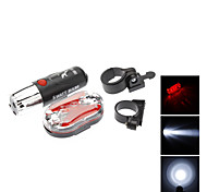Super Brightness LEDs Bicycle Safety Head and Tail Light Set