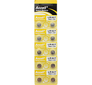 ACCELL 1.5V AG7/LR927/395/SR927/195 Alkaline Cell Button Batteries (10 PCS)