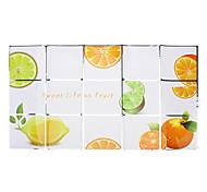 75x45cm Orange Pattern Oil-Proof Water-Proof Kitchen Wall Sticker