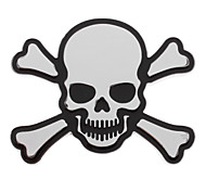 Cool Skull Shaped Alloy Decal Sticker for Cars