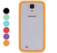 Caja dura transparente con estilo para Samsung Galaxy S4 i9500 (colores surtidos)