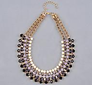 shixin® многослойный повод жемчужина из бисера tatement нагрудник воротник ожерелье