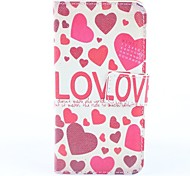 Hearts Pattern PU Full Body Case with Card Slot and PC Back Coverfor iPhone 5/5S