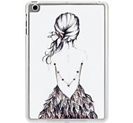 Diamond Look Sexy Girl's Back Case for iPad mini 3, iPad mini 2, iPad mini