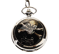Unisex Casual Alloy Analog Quartz Pocket Watch (Silver)