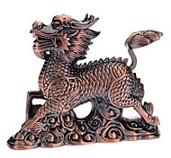 Dragon Shaped Brown Gas Lighter with LED