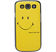 Smiling Face Pattern Aluminum Hard Case for Samsung Galaxy S3 I9300