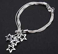 z&x® überzog Sterlingsilber 925 neue Garnelen Schnalle perfekte Sterne Armband