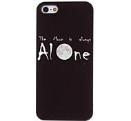 sola caja de aluminio duro patrón de la luna para el iphone 5/5s