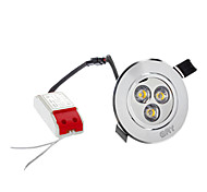 4W 3 High Power LED 280 LM Warm White LED Ceiling Lights AC 100-240 V