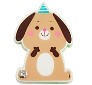Brown Dog Pattern Cover Nail Fixed Notepad