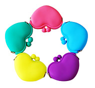Candy Cor Heart Shaped silicone Alterar bolsas (cores sortidas)