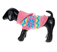 Dog Sweater Pink Winter Snowflake Christmas
