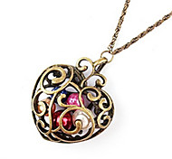 Korean jewelry hollow pattern love necklace N109
