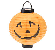 Pumpkin Lantern with LED (Random Color,2xAAA)