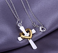Pendants Alloy Heart Cross Heart Jewelry Thank You Valentine