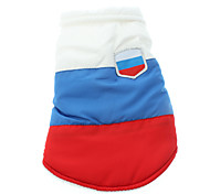Russia Style Three-Colored Thicken Vest for Pets Dogs (Assorted Sizes)
