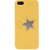 superfície caso difícil pc suave com suporte de alumínio estrela de cinco pontas para 5/5s (cores opcionais) iphone