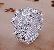 Doppelflat Herz Desing Ring