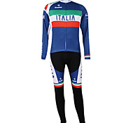 Kooplus2013 Championship Italy Jersey Polyester&Lycra&Elastic Fabric Cycling Suits(Shirt + Pants)