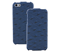 Ostrich Pattern PU Leather Flip Case with Interior Microfiber Protection for iPhone 5/5S (Optional Colors)