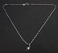 Eruner®Crystal Pendant Silver Necklace