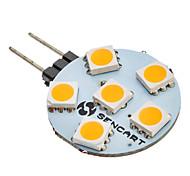 G4 6W 6 SMD 5050 60-80 LM Warm wit AC 12 V