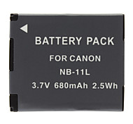 NB-11L Batterie pour Canon PowerShot A2400 A3400 A4000 IS IXY 420 F (680mAh, 3.7V)