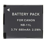 NB-11L Akku für Canon PowerShot A2400 A3400 A4000 IS IXY 420 F (680mAh, 3,7 V)