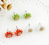 Korea Style Multilayer Pearl Flower Stud Earrings(Assorted Color)