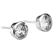 Silver Fashion Crystal Stud Earrings