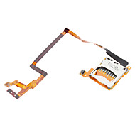 Replacement SD Card Slot with Flex Cable for Nintendo DSi (Silver + Gold)