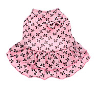 Dog Dress Pink Summer Bowknot