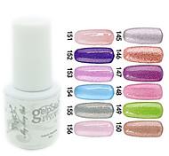 yemannvyou®sequins uv Farb GelNagellack no.145-156 (5 ml, farblich sortiert)