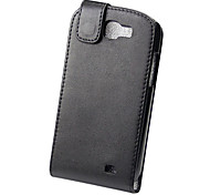 Elegant PU leather Full Body Flip Case Cover for Samsung Galaxy Express I8730-Black