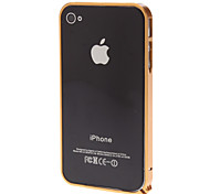 Protective Gold 0.7mm Metal Bumper Frame with T5 Screwdriver and Screw for iPhone 4/4S
