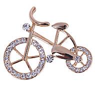 en forme de diamant vélo charme Broche la N303 des femmes