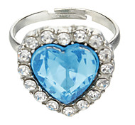 Sapphire Crystal Heart Of Ocean Ring