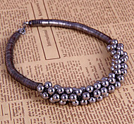 Korean fashion gun black grapes pearl necklace N675