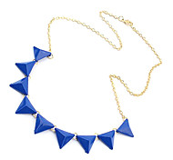 Fashion orange triangle necklace N371