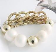 Korean Version Of The Hot-Selling Fashion Elegant Pearl Bangle Bracelet Snake Bone B1