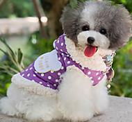 Dog Coat Purple / Pink Dog Clothes Spring/Fall Polka Dots